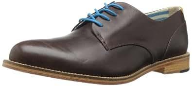 J. Shoes Men's William Oxford Shoe,Dark Brown,8 M US