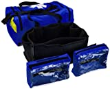 "Primacare KB-4135-B First Responder Bag, 9"" Height x 21"" Width x 12"" Depth, Blue"