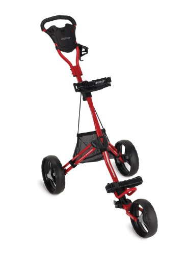 Bag Boy Express DLX Push Cart, Red