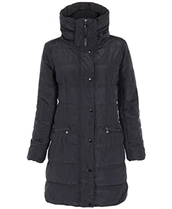 KRISP Zip Up Puffer Puffa Padded Quilted Coat Jacket Parka