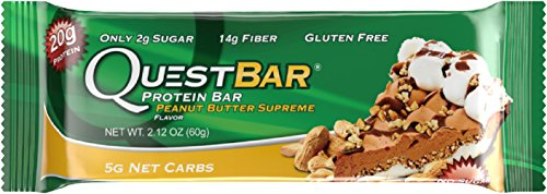 Quest Nutrition Protein Bar, Peanut Butter Supreme, 20g Protein, 2.12oz Bar, 12 Count (Quest Bars Cheap compare prices)