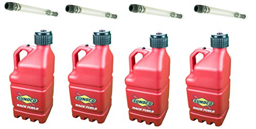 4-pack-sunoco-5-gallon-red-race-utility-jugs-and-4-deluxe-filler-hoses