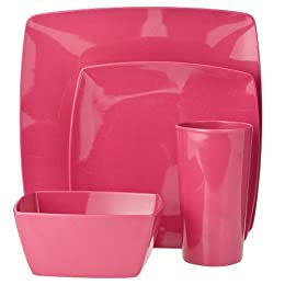 Product Image Eco-Friendly Square Dinnerware Collection - Fushia