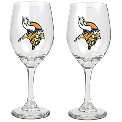 NFL 14-Ounce Wine Glass (Set of Two)
