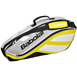 Babolat 2010 Club Line Racquet Holder X3 Tennis Bag - Yellow/Silver/Black