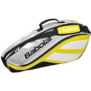 Babolat 2010 Club Line Racquet Holder X3 Tennis Bag - Yellow/Silver/Black