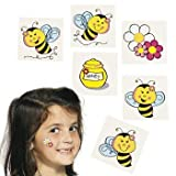 Spring Bumble Bee Novelty Temporary Tattoos - 72 pcs