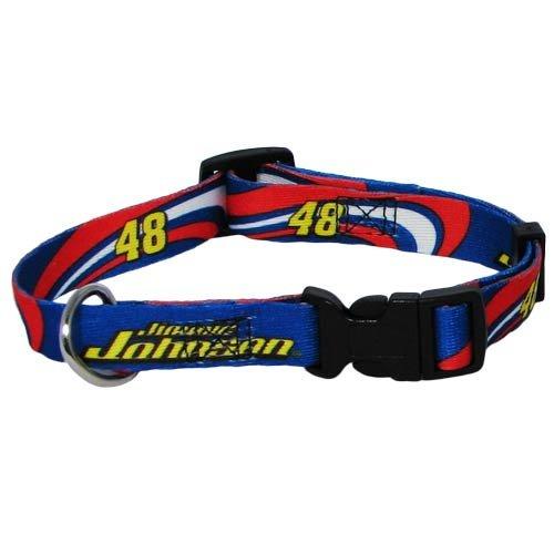 Nascar Jimmie Johnson Adjustable Pet Collar, Team Color, Large front-1035704
