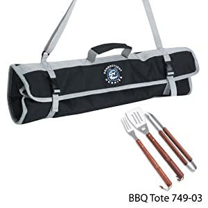 Buy NCAA Connecticut Huskies 3-Piece BBQ Tool Set With Tote by Picnic Time