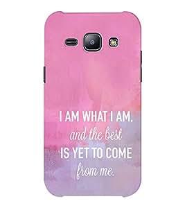 EPICCASE I am what i am Mobile Back Case Cover For Samsung J1 Ace (Designer Case)
