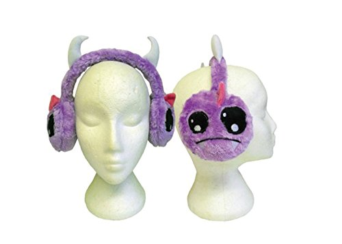 "Poizen Industries Monster-Luv-Custodia in finta pelliccia per Cosplay, colore: viola, motivo: Ragazza Emo ""Kawaii Ear Muffs"