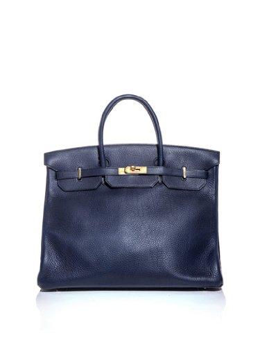 エルメス ビンテージ バーキン40 ロイヤルブルー HERMES VINTAGE Birkin 40 leather bag (154638)
