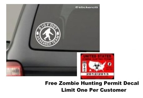 BIGFOOT RESEARCH TEAM Decal Sasquatch Yettie Funny Car Window Vinyl Sticker