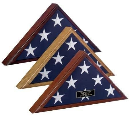High Quality-Flag Display Case American Made, American Fla Display Case Made Out Of Real Walnut, Top Quality Flag Case At Discount Price
