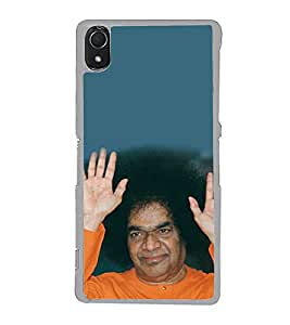 Sathya Sai Baba 2D Hard Polycarbonate Designer Back Case Cover for Sony Xperia Z3 :: Sony Xperia Z3 Dual :: Sony Xperia Z3 D6633