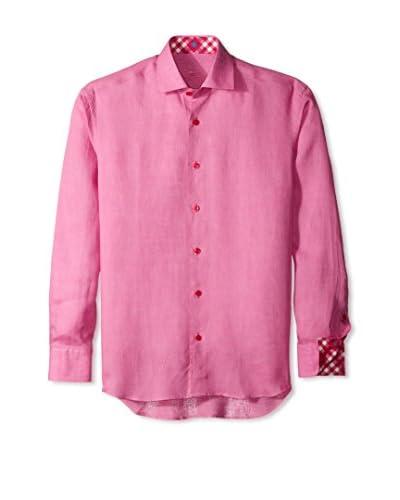 Bertigo Men's Mike Solid Linen Long Sleeve