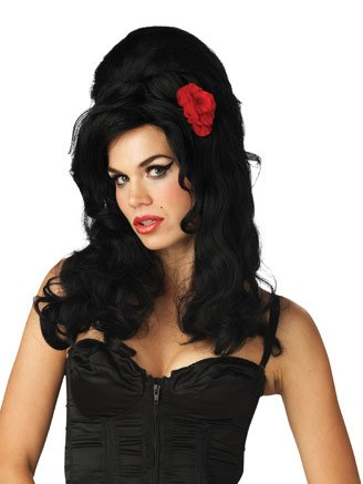 Rehab Wig Celebrity Costume Black Wig Funny Costumes