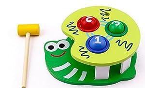 Snails Kinder spielen Hamster Spielzeug klopfen Angeln Fr¨¹hkindliche Bildungs-Spielzeug zu schlagen Kreative Geburtstagsgeschenk Holz Bildungs-Spielzeug f¨¹r Kinder Weihnachten Spielzeug