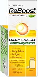 ReBoost Flu Symptom Tablets, Cold/Flu Relief, 100 Count