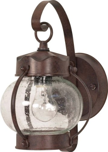 Nuvo 60/631 Old Onion Lantern with Clear Seed Glass, Old Bronze
