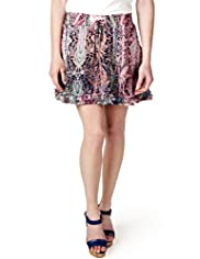Limited Collection Paisley Print Mini Skirt