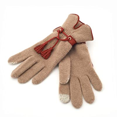 Red Tassle Touch Gloves