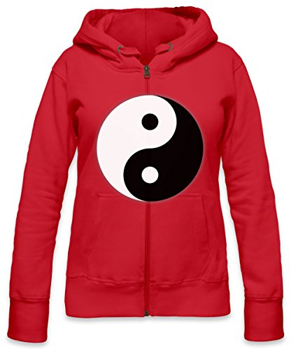 Yin And Yang Dark And Light Symbol Womens Zipper Hoodie Large
