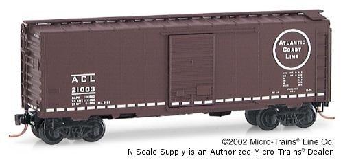 Micro Trains N 20636, 40' Standard Box Car, Single Door, Atlantic Coast Line ACL#21003
