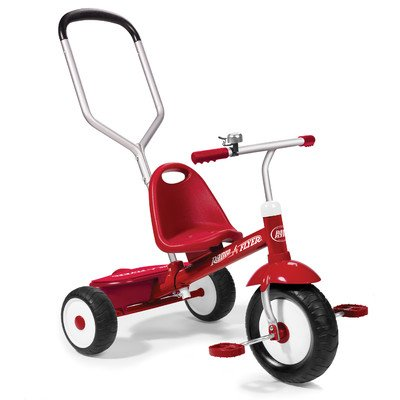 Best Review Of Radio Flyer Radio Flyer Deluxe Steer and Stroll Trike