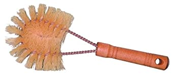 "Magnolia Brush 168 Vegetable Brush, Tampico Fibre Bristles, 1-1/2"" Brush Diameter x 8"" Length, White (Case of 12)"