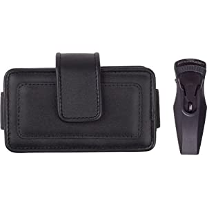 New Fitted Medium Horizontal Leather Cell Phone Pouch