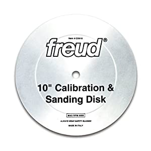 Freud cd010 10 calibration sanding disk with 5 8 arbor for 10 sanding disc for table saw