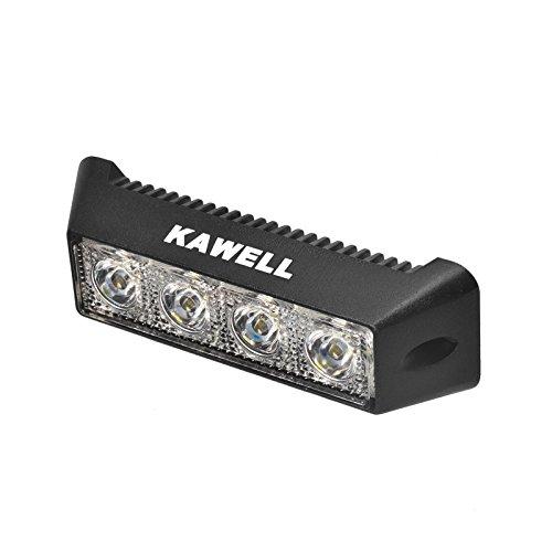 Kawell® 12W Dc 10-30V 6500K Led Flood Beam 60 Degree Off Road Waterproof Work Light Bar For Jeep Cabin/Boat/Suv/Truck/Car/Atvs/Fishing/Deck Driving