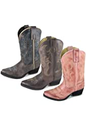 Red Ranch Girls' Cowgirl Boot Snip Toe