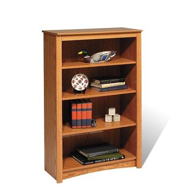 Elegant, Excellent 4 Shelf Bookcase In Oak