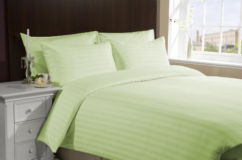 Italian Finish Duvet Cover 800 Tc Egyptian Cotton Rv-Bunk Sage Stripe By Lacasa Bedding By Lacasa Bedding front-1064374