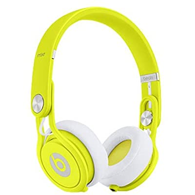 Beats by Dr. Dre Mixr Lightweight DJ Headphones (Neon Yellow) Bundle with Beats Cable with Microphone and Custom Designed Zorro Sounds Cleaning Cloth
