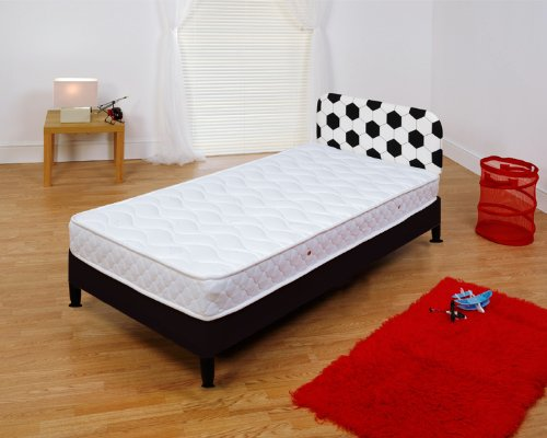 Soccer SINGLE DIVEN BEDBASE WITH CHAND MATTRESS AND HEADBOARD +FREE MEMORY FOAM PILLOW