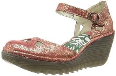 Fly London Women's Yuna Fashion Sandals P500016094 Red 3 UK, 36 EU