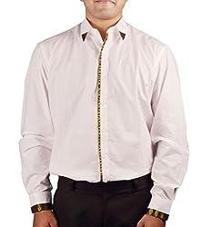 Riverbero Men's Casual Shirt (SN_DFS_217_White_40)