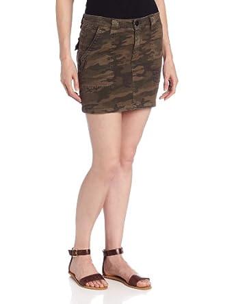 Sanctuary Clothing Women's Camo Skirt, Safari, 24