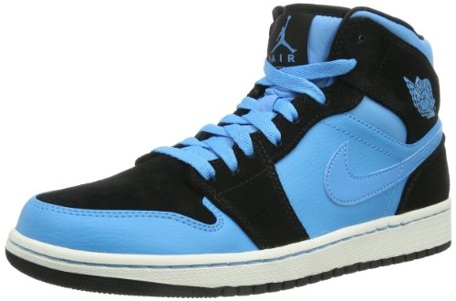 B00HY15FA8 Nike Air Jordan 1 Mid Men's Basketball Sneakers 554724 Blue Size 12