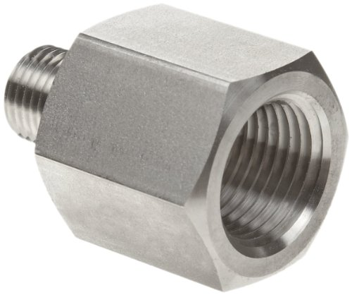 Parker Stainless Steel 316 Pipe Fitting, Reducing Adapter, 1/4