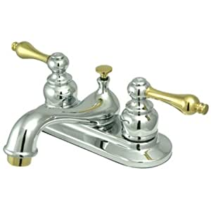 Kingston Brass Kb604al Restoration 4 Inch Centerset Lavatory Faucet With Metal Lever Handle
