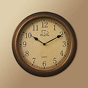34 H Retro Metal Wall Clock Kitchen Home