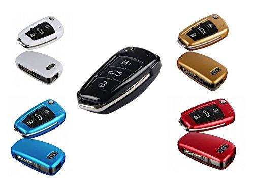 選べる5色 AUDI アウディ 専用 リモコン キーケース A1 / A3 / TT / R8 (レッド)