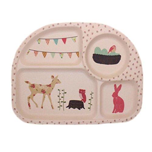 Kids Toddler Divided Plates/ Baby Feeding Utensils/ Tableware Sets-06