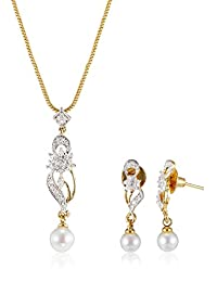 SIA Art Jewellery Set For Women (Golden) (AZ2836)