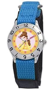 Disney Kinder-Armbanduhr Belle Lernuhr blau #0803C009D047S502