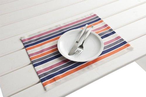 """4 Stück Outdoor TISCHSET """"Antibes lila-orange"""" Placemat Gartentisch Tisch- Platzset abwaschbar 30cmx40cm günstig bestellen"""
